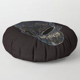 Neon Skull Floor Pillow