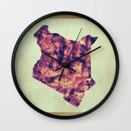 Kenya Map with Flag Wall Clock
