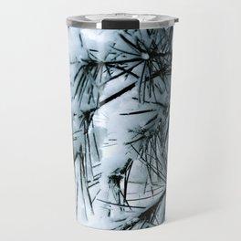 Snow Laden Pine - A Winter Image Travel Mug
