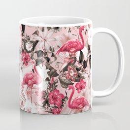 Floral and Flemingo III Pattern Coffee Mug