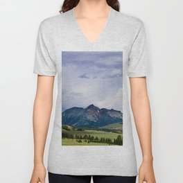 Electric Peak Yellowstone Unisex V-Neck