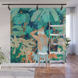 Backyard #illustration #painting Wall Mural