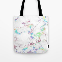Holo Rainbow Unicorn Marble Tote Bag