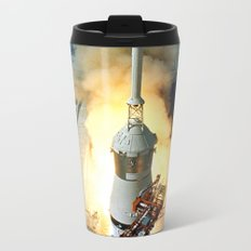 Saturn V Launch of Apollo 11 Moon Mission Metal Travel Mug