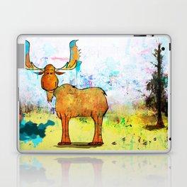 Blue Moose on the Loose ~Ginkelmier Laptop & iPad Skin