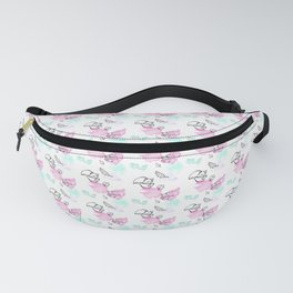 Red Foxes watercolors pattern Fanny Pack