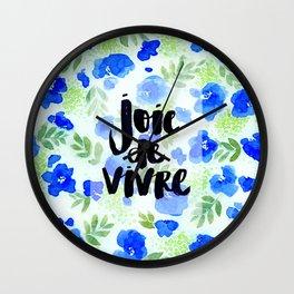 Joie De Vivre - Collaboration by Jacqueline Maldonado and Galaxy Eyes Wall Clock
