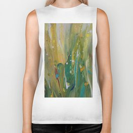 Fluid Nature - Windswept Cornfield - Abstract Acrylic Art Biker Tank