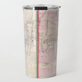 Vintage Map of Nevada and Utah (1866) Travel Mug