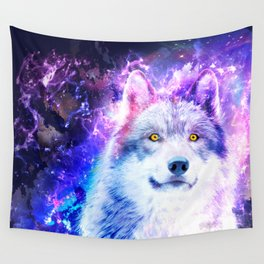 Cosmic Wolf Wall Tapestry