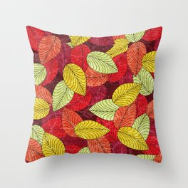 Let the Leaves Fall #14 Throw Pillow