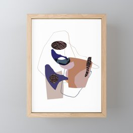 Abstract Modern Shapes, Line Art, Papercut And Structure Framed Mini Art Print