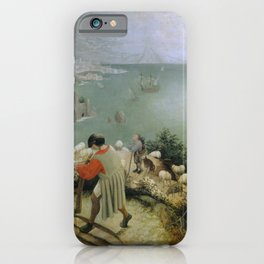 Pieter Bruegel the Elder - Landscape with the Fall of Icarus iPhone Case