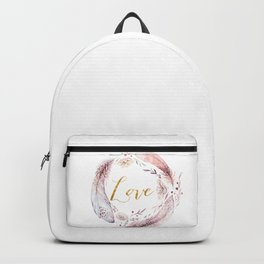 Love floral wreath Backpack