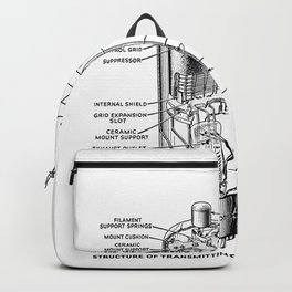 radio tube vintage electronics Backpack