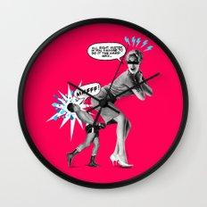 Butt Jab Wall Clock