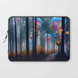 Forest of Super Electric Jellyfish Worlds Laptop Sleeve