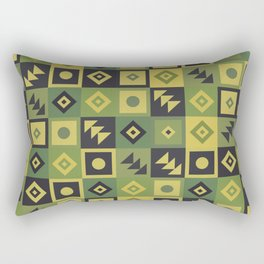 Retro Geometric Tile Pattern Rectangular Pillow