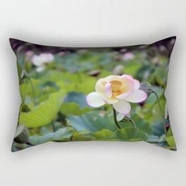 Aquatic Garden Lotus 2 Rectangular Pillow