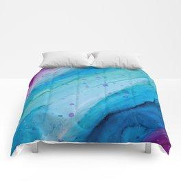 ColourPop - Ocean Wave Alcohol Ink Painting Comforters