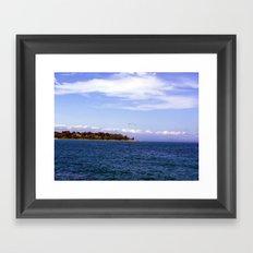 Lone Gull Over Lake Michigan Framed Art Print