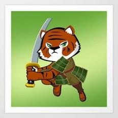 Samurai Tiger Art Print