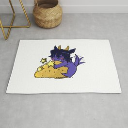 Small cute purple Dragon Keith Protect his golds Rug