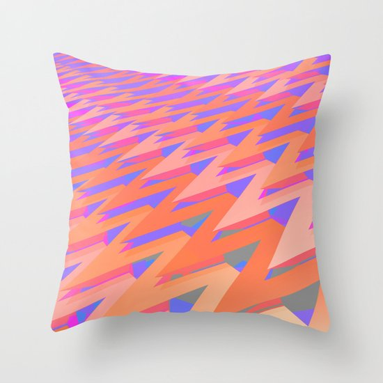 Pastel ZigZag Pattern Throw Pillow