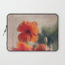 Red Poppies, Flowers Laptop Sleeve