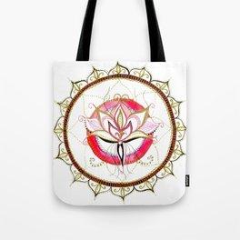 Lotus - Pink flourish Mandala Tote Bag