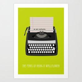 the perks of being wallflower Art Print
