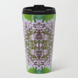 Kaleidoscope Pink Milkweed Flower Macro Photograph Travel Mug