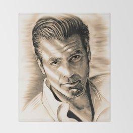 George Clooney II Throw Blanket