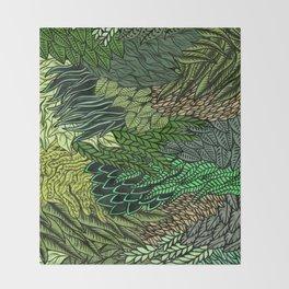 Leaf Cluster Throw Blanket
