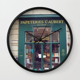 Paris Papeterie Wall Clock