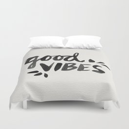 Good Vibes – Black Ink Duvet Cover