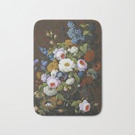 Severin Roesen - Floral Still Life Bath Mat
