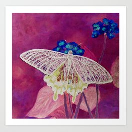 Radioactive Butterfly Art Print
