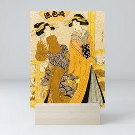 Geishas on a Balcony Mini Art Print