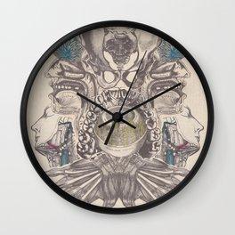 Anatomy Collage 5 Wall Clock