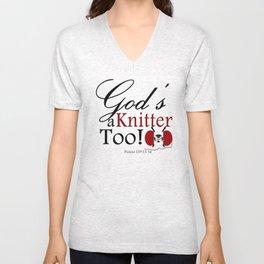 God's a Knitter Too Unisex V-Neck