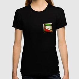 Grunge sticker of Kuwait flag T-shirt