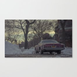 Cinematic New York - Street photography with a movie feel - Vintage car Canvas Print