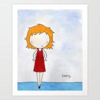 sassy Art Prints featuring Sassy by Amy K. Nichols