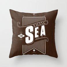Facing The Sea Throw Pillow