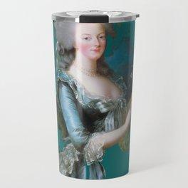 marie Antoinette teal Travel Mug