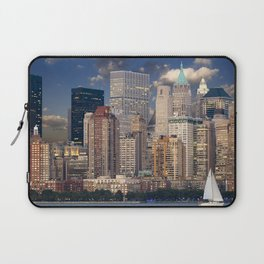 Downtown NYC at twilight Laptop Sleeve
