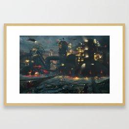 Dystopian Industrial Future Framed Art Print