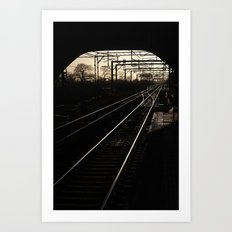 Lines and Curves Art Print