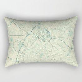 Charlotte Map Blue Vintage Rectangular Pillow